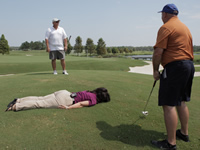 Planking on the Golf Course