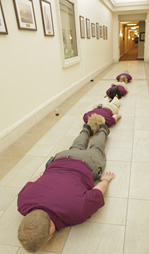 Planking in the Hallway